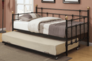 QFIF-311 | Black Metal Frame with Bronze Trundle Bed