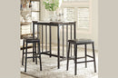 QFTT-T3215 | 3pc Faux Marble Top Pub Set