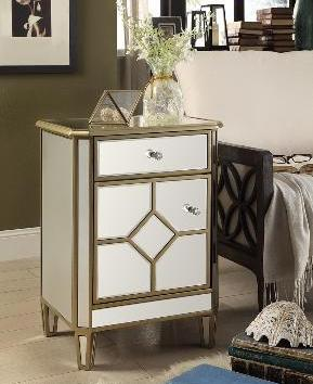 QFMZ-4534 | Maltese Mirrored Cabinet