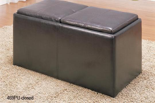 QFMZ-469PU | Claire Storage Ottoman Coffee Table