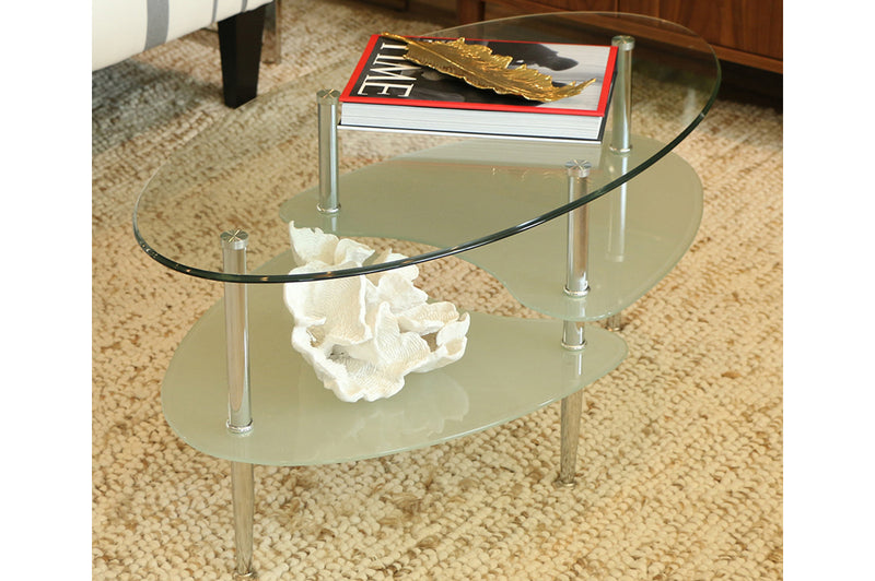 QFTT-T5002 | Tempered Glass Top Coffee Table