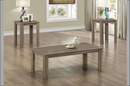 "QFTT-T5022 | 3pc Driftwood"" Finish Coffee Table Set"