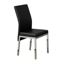 "QFIF-5063 | 21""L Black Cushion with Chrome Legs Chair"
