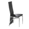 "QFIF-5067 | 18""L Black with Chrome Legs Chair"