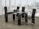"TST-1485 TSC-5070 | 63""L Tempered Glass with Bottom Glass Dining Set"