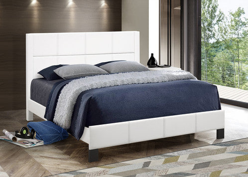 QFIF - 5351 White PU Bed with Contrast Stitching Bed
