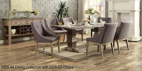 QFMZ-5428-84 | Country Rustic Dining Set