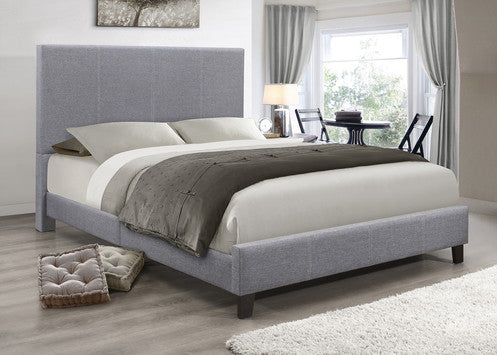 QFIF - 5474 Grey Fabric Bed
