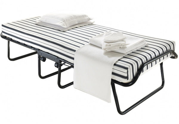"QFTT-T610/T620 | Black Frame w/ 4"" Thick Striped Mattress"