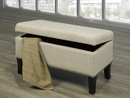 QFIF-6240 | Beige with Decorative Nails Storage Bench