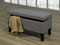 QFIF-6241 | Grey with Decoratve Nails Storage Bench