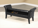 QFIF-668B | Black PU Storage Bench