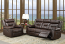 TSIF-8040 | Black Air Leather Recliner Sofa Set