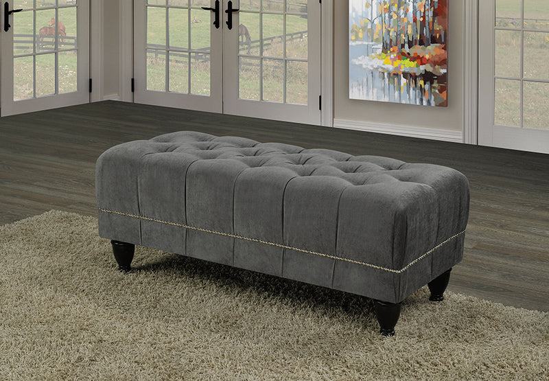 QFTT-R860 | Traditional Design Velvet-style Fabric Bench