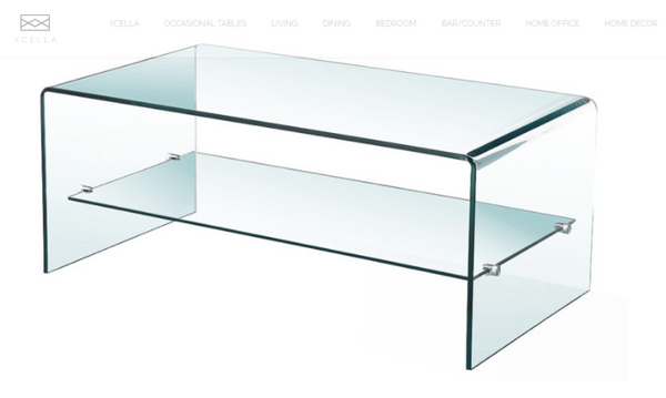 GLASS COFFEE TABLE with shelf GY-S02CT-12