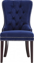 QFIF - 1222 | Navy Blue Velvet with Nail Head Details Chair