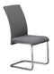 QFIF-1780 | Light Grey Fabric With Chrome Legs Chair