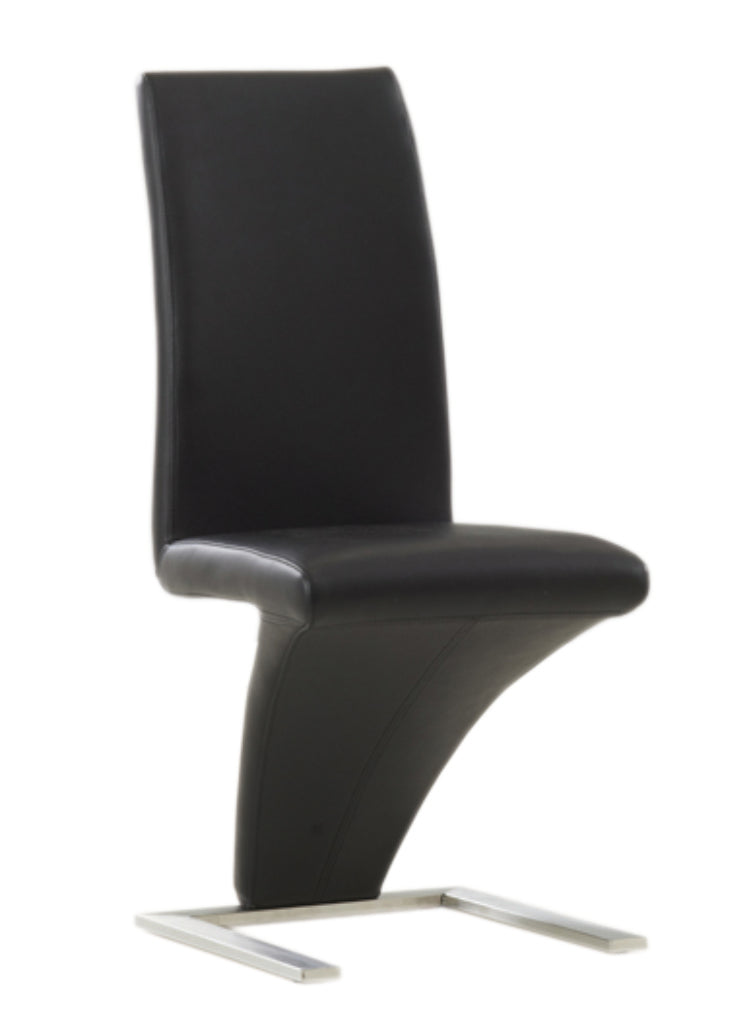 QFIF-1785 | Black 'Z' Shaped With Chrome Legs Chair
