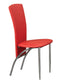QFIF-5055 | Chrome Legs and Red PU Seats Chair