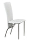 QFIF-5056 | Chrome Legs and White PU Seats Chair