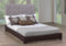 QFIF-144G / 144E | Grey Fabric & Espresso Bonded Leather Headboard
