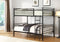 QFIF-510 | Black Single/Single Metal Bunk Bed