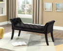 QFIF-6231 | Black Velvet Bench with Deep Tufting