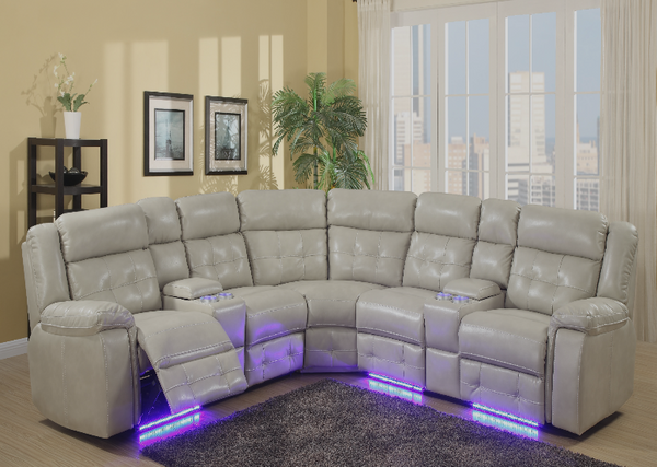 QFGX - Power Sectional Recliner Set