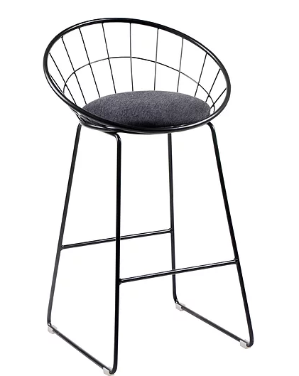 QFIF - ST 7525 Bar Stool (Grey Fabric)