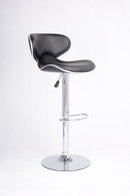 QFIF - ST-7700 | Adjustable Height Black Seats Bar Stool