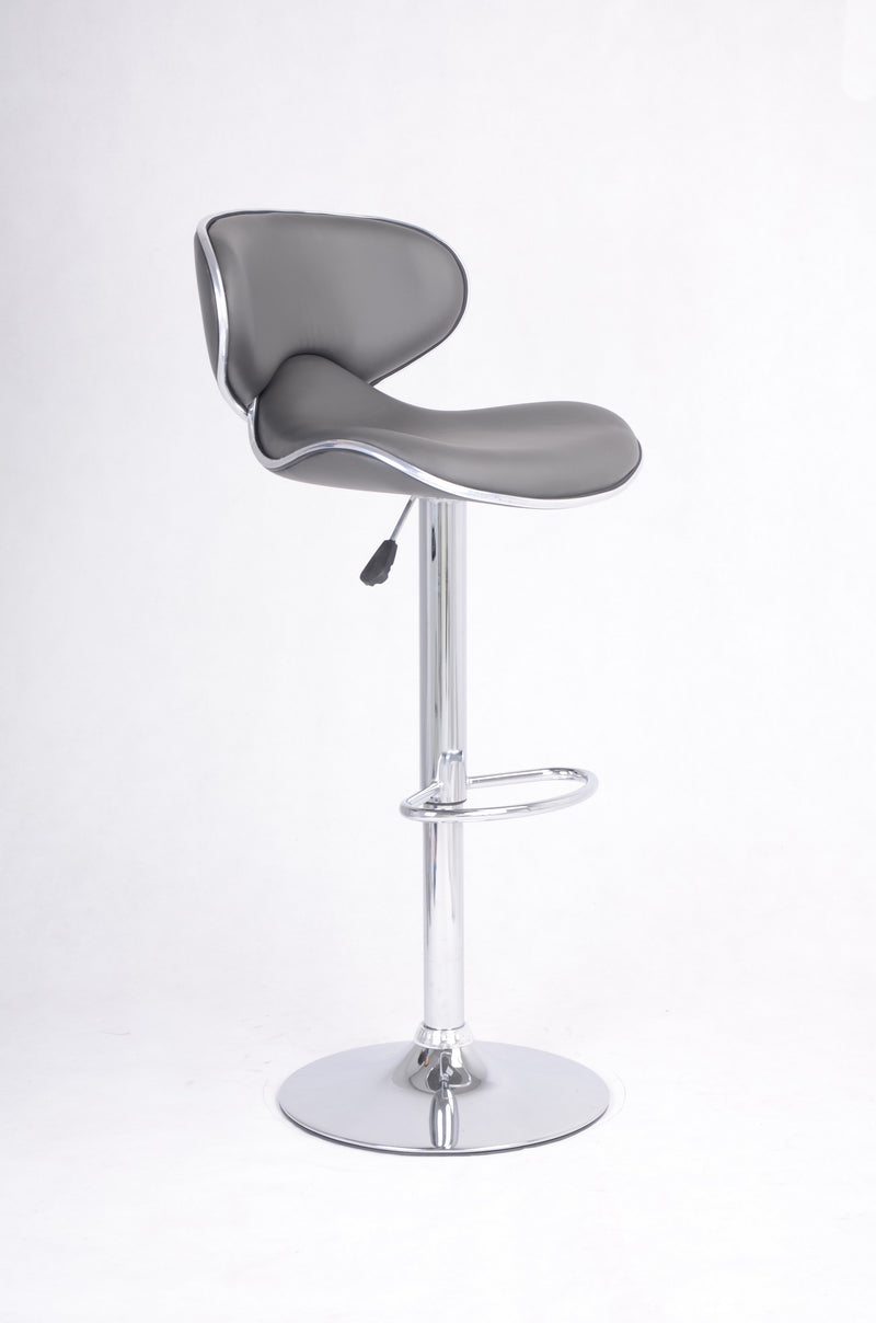 Picture of: Qfif St 7704 Adjustable Height Grey Seats With Chrome Legs Bar Sto Quick Furniture Inc