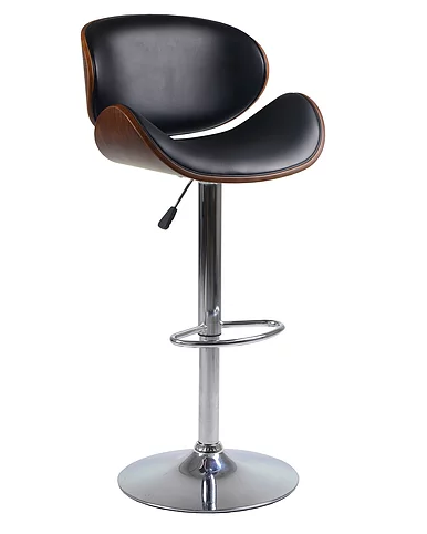 QFIF - ST 7510 Bar Stool (Black PU)