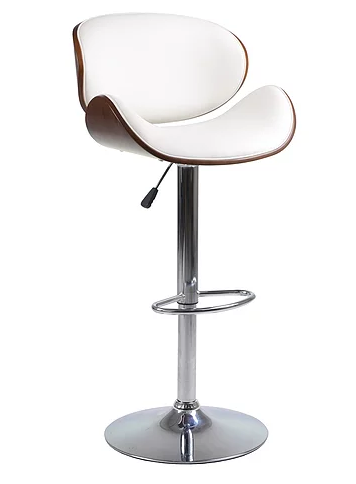 QFIF - ST 7511 Bar Stool (White PU)