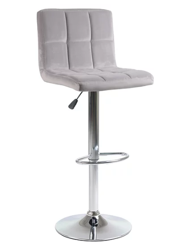 QFIF- ST 7621 Bar Stool (Grey Velvet)