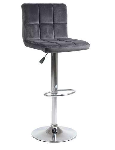 QFIF - ST 7622 Bar Stool (Charcoal Velvet)