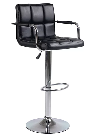 QFIF - ST 7730-BK Bar Stool (Black PU)