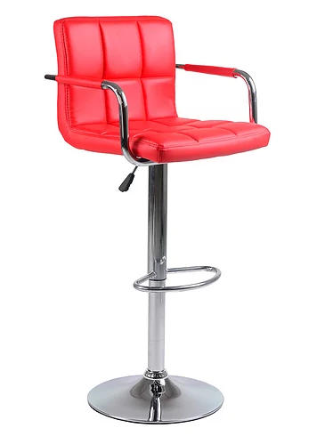 QFIF - ST 7732-R Bar Stool (Red PU)