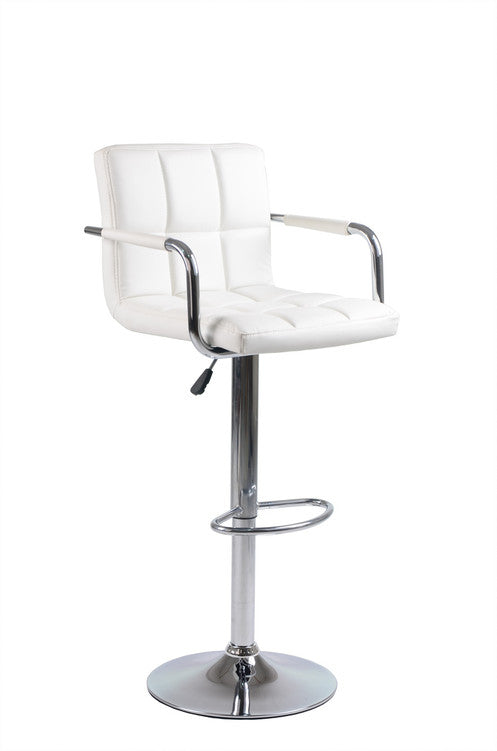 QFIF - ST 7733-W Bar Stool (White PU)