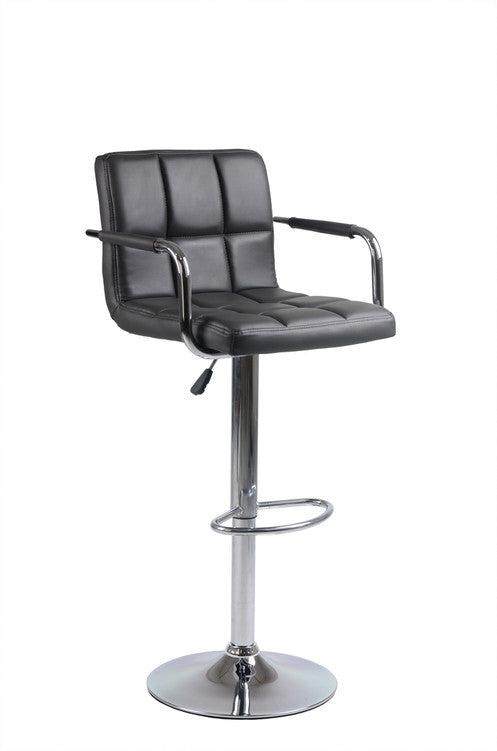 QFIF - ST 7734-G Bar Stool (Grey PU)
