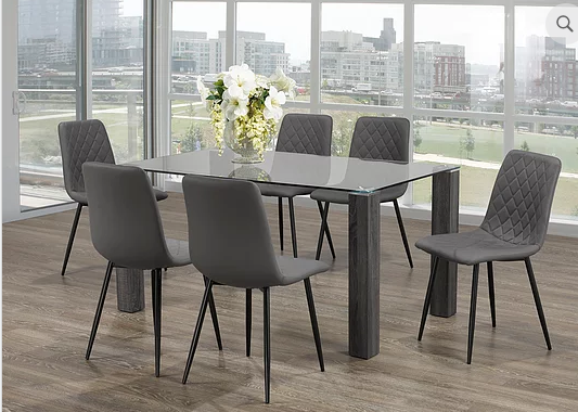 QFIF - T-1449/ C-1712 7pc Dining Set