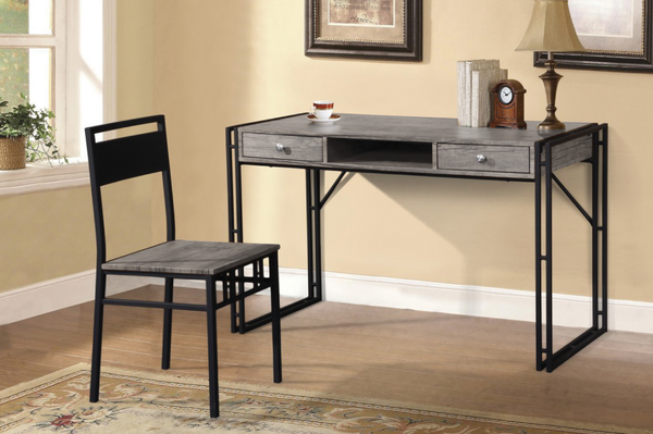 QFTT-T920 | Distressed Grey Finish Desk Set