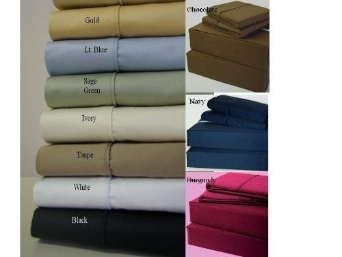 Solid Queen Size Sheets, 4PC Bed Sheet Set