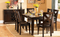 QFMZ-1372-78 | 7pc Butterfly Leaf Counter-height Dining Set