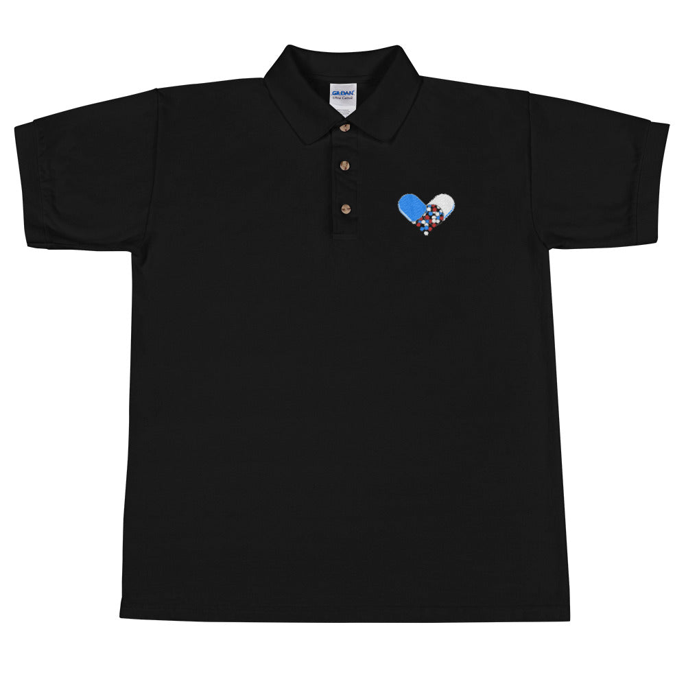 Love Drug *ALL-AMERICAN* Embroidered Polo Shirt