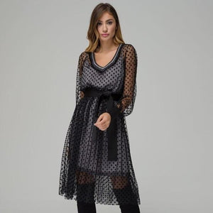 Dress mid length mesh stars