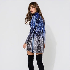Diamante Print Dress