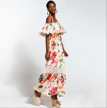 Load image into Gallery viewer, Floral Off-shoulder Maxi Dress