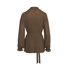Load image into Gallery viewer, Pleated Chiffon Blouse