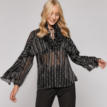 Load image into Gallery viewer, Sheer Ruffle Blouse