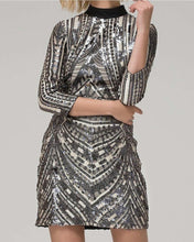 Load image into Gallery viewer, Embroider Sequins Dress
